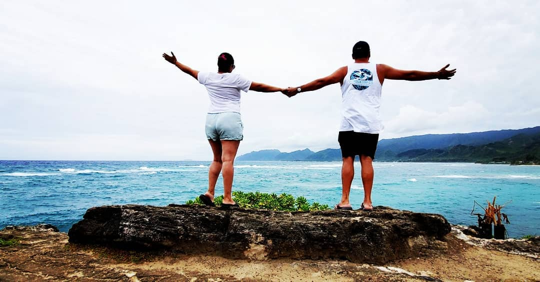 Couple at Laie